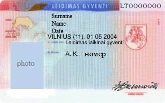Residence permit in Lithuania since November 2014