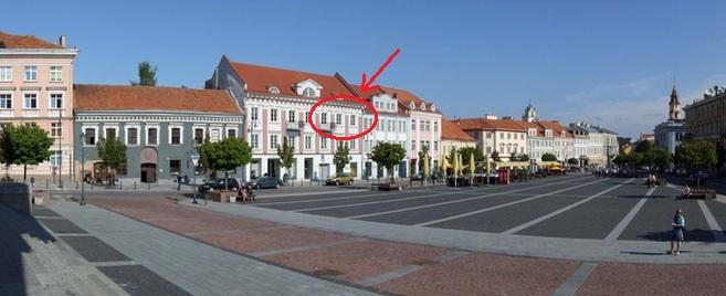 Declaration of residence in Vilnius, Lithuania